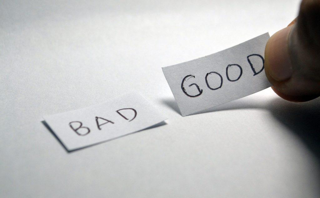 bad versus good