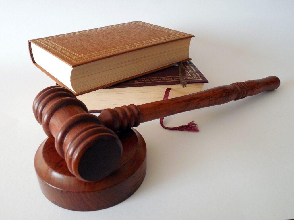 law books judge gavel